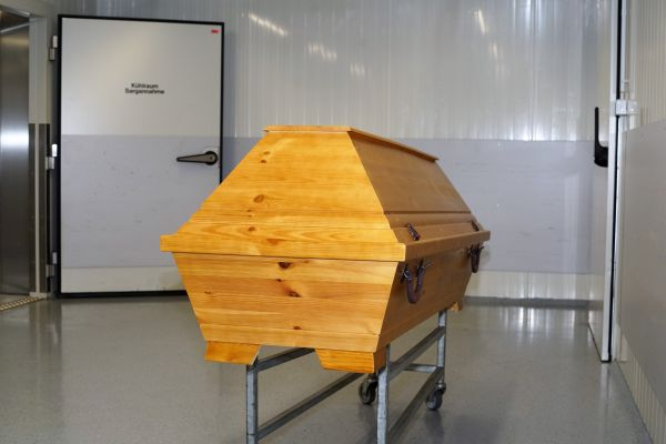 Kühlraum im Krematorium